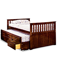 Hortyn Kid's Twin Captain Bed, Quick Ship