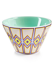 Coton Colors Indigo Retro Trim Mod Appetizer Bowl