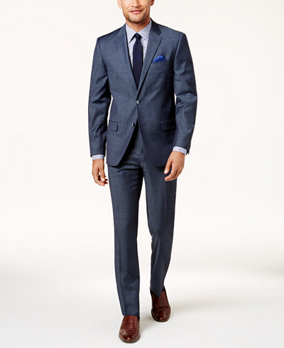 Ben Sherman Men's Slim-Fit Denim Comfort Stretch Suit