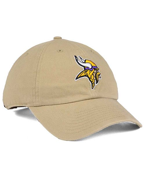 884f49d3b154b5 '47 Brand. Minnesota Vikings Khaki CLEAN UP Cap. Be the first to Write a  Review. main image ...