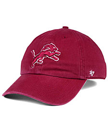 '47 Brand Detroit Lions Cardinal CLEAN UP Cap
