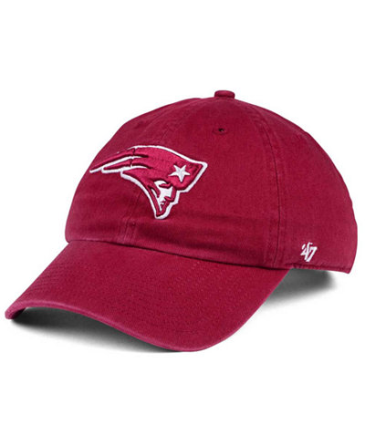 '47 Brand New England Patriots Cardinal CLEAN UP Cap