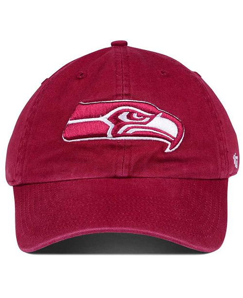 Seattle Seahawks Cardinal CLEAN UP Cap