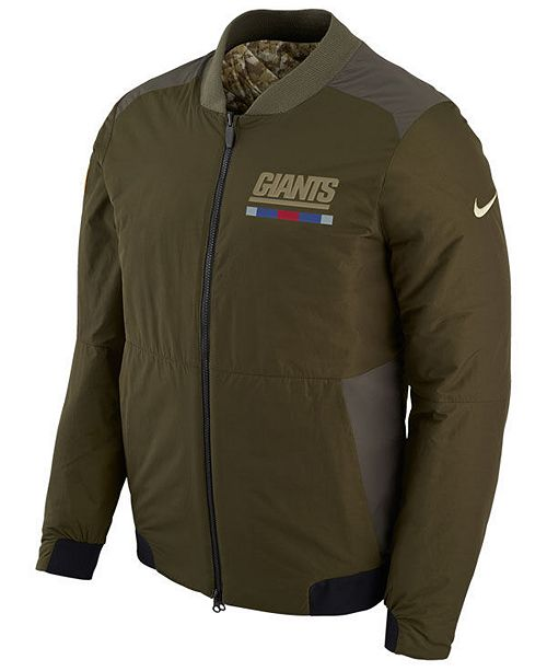 premium selection 760d9 ba22c Nike Men's New York Giants Salute To Service Bomber Jacket ...
