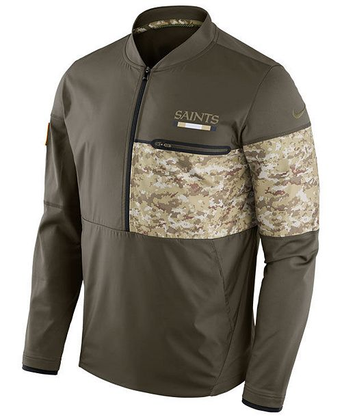 save off 279a5 86897 Nike Men's New Orleans Saints Salute To Service Hybrid Half ...