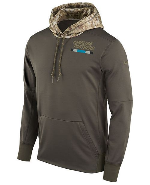 new style 3d793 81940 Nike Men's Carolina Panthers Salute To Service Therma Hoodie ...