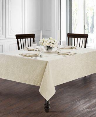 "Peony Ivory 70"" x 104"" Tablecloth"