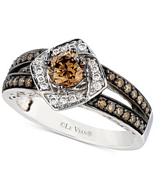 Le Vian Chocolatier® Diamond Ring (7/8 ct. t.w.) in 14k White Gold