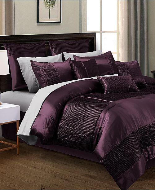 sets comforters sleep purple down satin with white this bedding search ivory luxurious images set comforter in reverse comfort