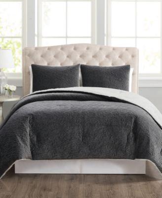 CLOSEOUT! Truly Velvet 3-Pc. Reversible Full/Queen Comforter Set