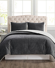 CLOSEOUT! Truly Velvet 3-Pc. Reversible Comforter Sets