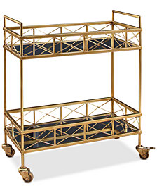 Laney 2-Tier Bar Cart, Quick Ship