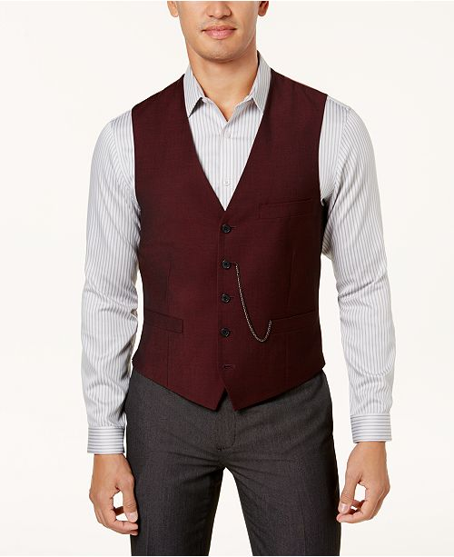 INC International Concepts I.N.C. Men's Slim-Fit Vest, Created for Macy's