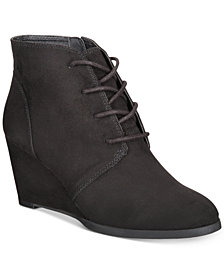 American Rag Baylie Lace-Up Wedge Booties, Created for Macy's