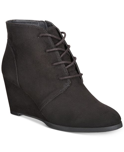 f29b6af4d3282 American Rag Baylie Lace-Up Wedge Booties, Created for Macy's ...