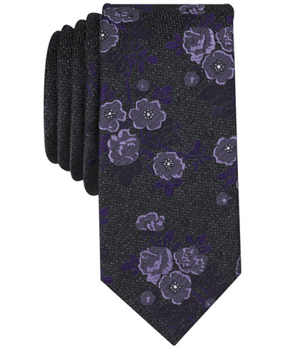 Bar III Men's Modo Floral Skinny Tie, Created for Macy's