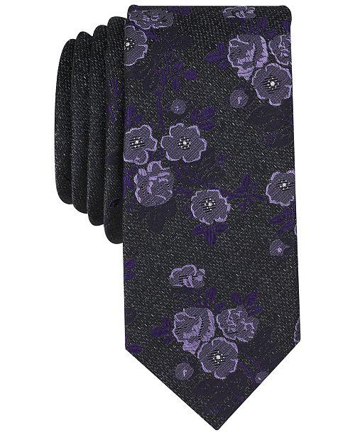 Bar III Men's Modo Floral Skinny Tie, Created for Macy's