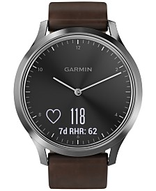 Garmin vívomove™ HR Brown Leather Strap Hybrid Smart Watch 43mm