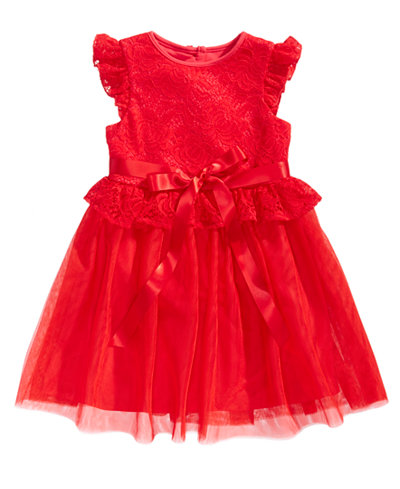 Laura Ashley Red Lace Dress, Little Girls (4-6X)