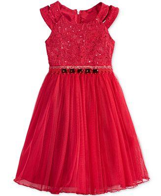 Bonnie Jean Sequin & Lace Dress, Toddler Girls (2T-5T)