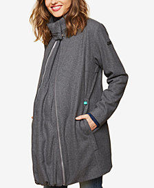 Motherhood Maternity Mock-Neck Coat