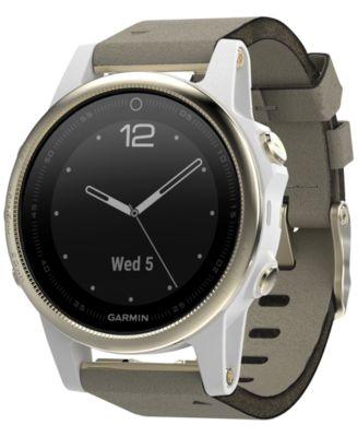 Unisex fenix® 5S Gray Suede Strap Smart Watch 42mm