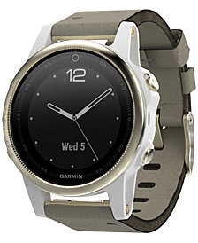 Garmin Unisex fenix® 5S Gray Suede Strap Smart Watch 42mm