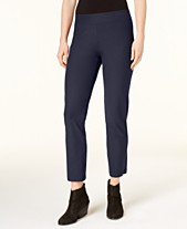 80aab10d3e1 Eileen Fisher SYSTEM Washable Crepe Slim-Leg Ankle Pants
