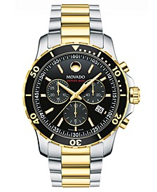 Men's Swiss Chronograph Series 800 Two-Tone PVD Stainless Steel Bracelet Diver Watch 42mm