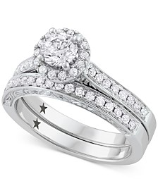 Macy's Star Signature Diamond™ Bridal Set (1 ct. t.w.) in 14k White Gold