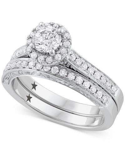 Macy S Star Signature Diamond Bridal Set 1 Ct T W In
