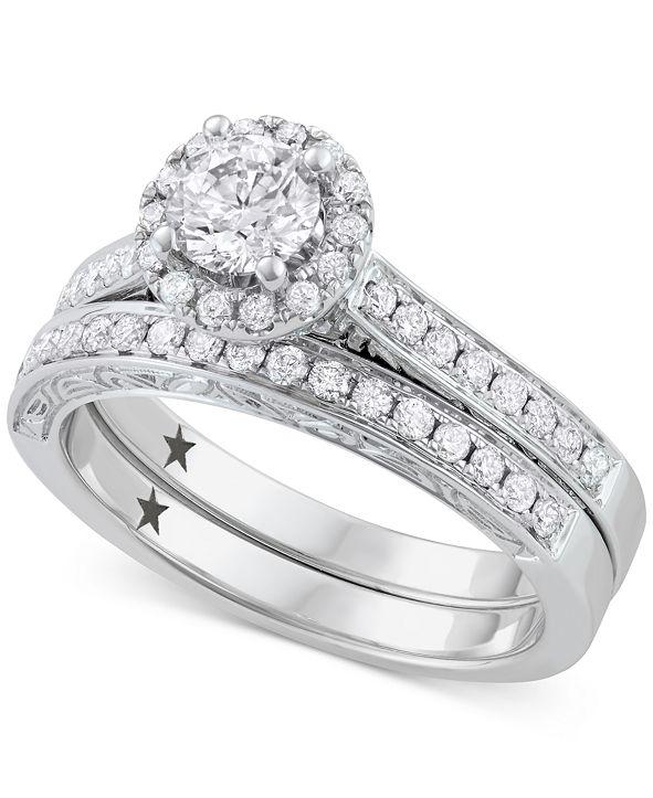 Macy's Star Signature Diamond Bridal Set (1 ct. t.w.) in 14k White Gold