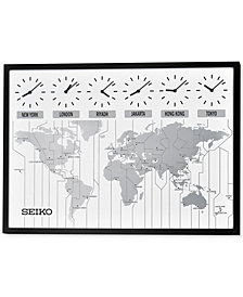 Seiko Six-City Wooden Wall Clock
