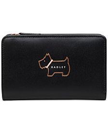 Radley London Heritage Dog Outline Medium Leather Zip-Top Wallet