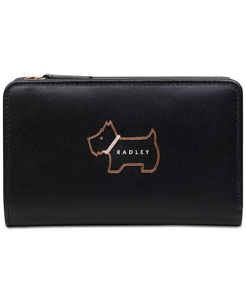 4657be528e ... Radley London Heritage Dog Outline Medium Leather Zip-Top Wallet ...