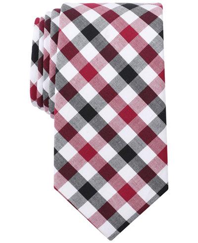 Bar III Men's Cottica Gingham Skinny Tie, Created for Macy's