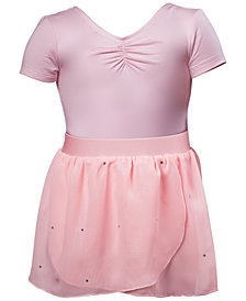 Flo Dancewear Ruched Leotard & Wrap Skirt, Toddler, Little Girls & Big Girls