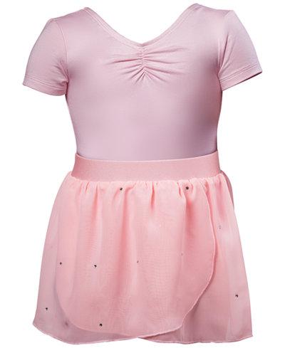 Flo Dancewear Ruched Leotard & Wrap Skirt, Toddler, Little Girls & Big Girls
