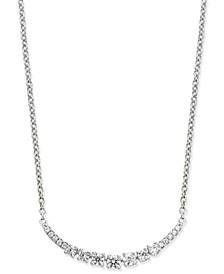 Diamond Arch Pendant Necklace (1/4 ct. t.w.) in 14k White Gold