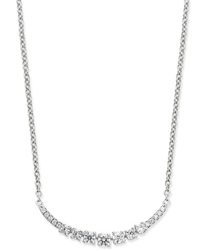 Diamond Arch Pendant Necklace (1/4 ct. t.w.) in 14k White Gold