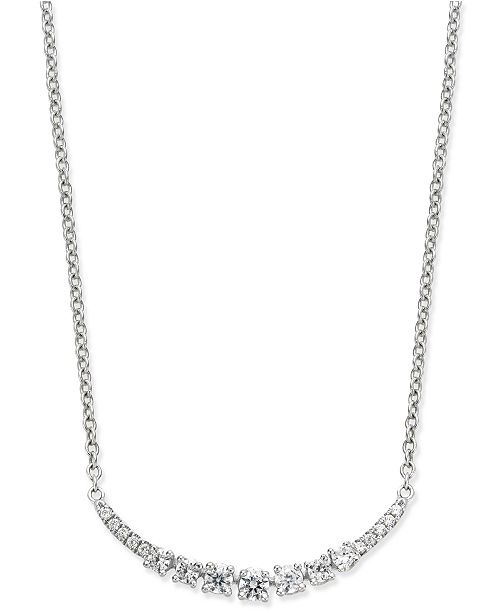 Macy's Diamond Arch Pendant Necklace (1/4 ct. t.w.) in 14k White Gold