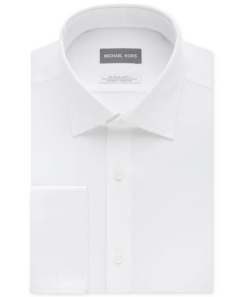 1a954503d7 ... Michael Kors Men's Classic/Regular Fit Airsoft Stretch Non-Iron  Performance Solid French Cuff ...