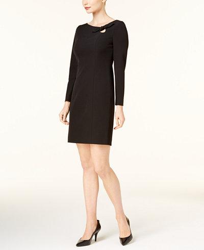 Anne Klein Bow-Tie Sheath Dress