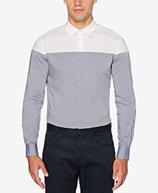 Perry Ellis Men's Colorblocked Chambray Shirt