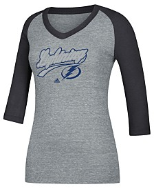 adidas Women's Tampa Bay Lightning Pearlized Raglan T-Shirt