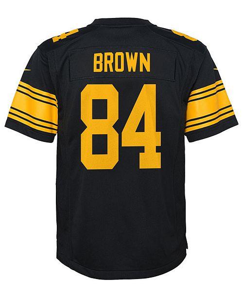 15f47d3cb68 ... Nike Antonio Brown Pittsburgh Steelers Color Rush Jersey