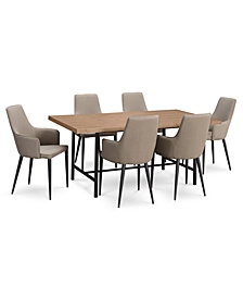 CLOSEOUT! Selena Dining Furniture, 7-Pc. Set (Dining Table & 6 Side Chairs), Created for Macy's