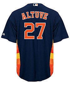 Majestic Men's Jose Altuve Houston Astros Player Replica Cool Base Jersey