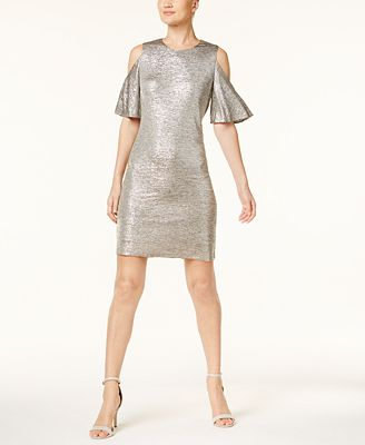 Calvin Klein Cold-Shoulder Dress, Created for Macy's