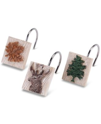 Nature Walk 12-Pc. Shower Curtain Hook Set